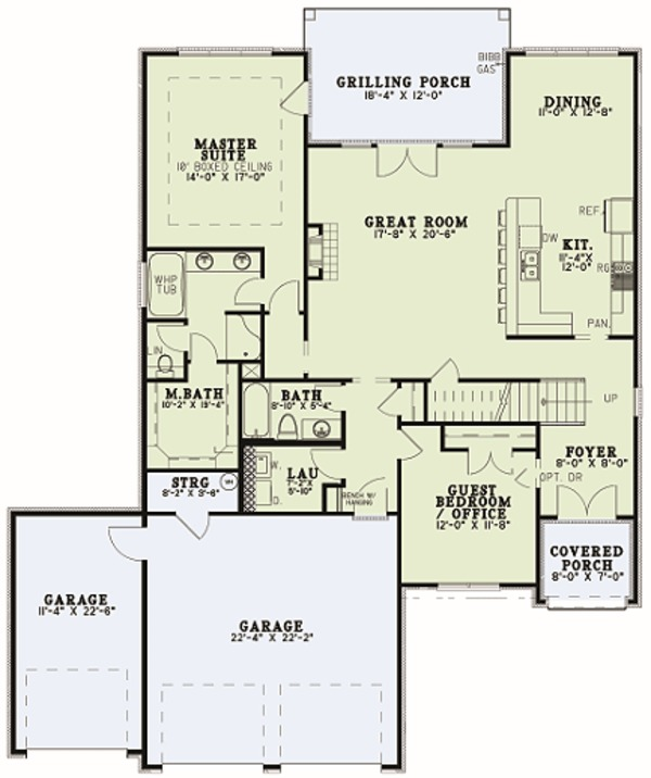 European Floor Plan - Main Floor Plan Plan #17-2597