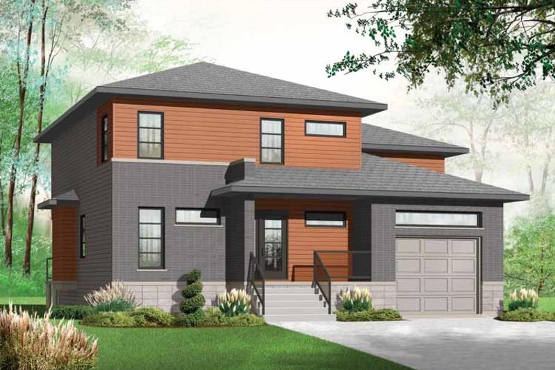 Contemporary Exterior - Front Elevation Plan #23-2545 - Houseplans.com