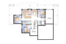 Craftsman Floor Plan - Lower Floor Plan Plan #23-2712