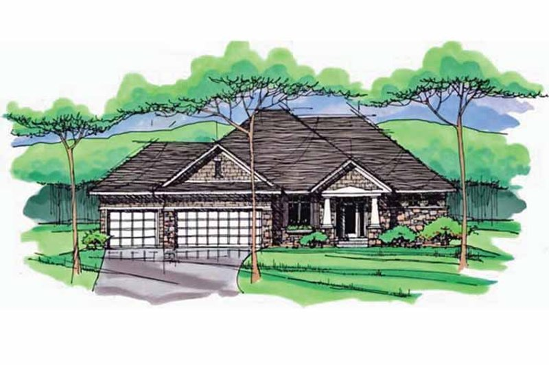 Dream House Plan - European Exterior - Front Elevation Plan #51-970