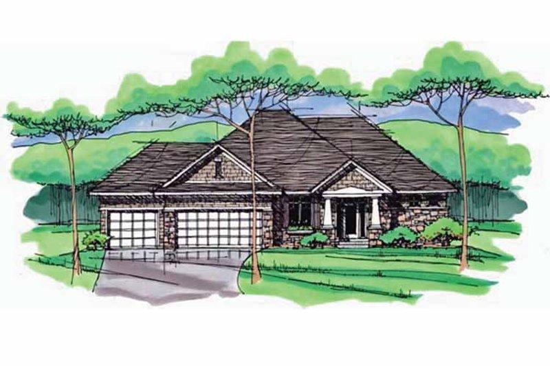 House Plan Design - European Exterior - Front Elevation Plan #51-970
