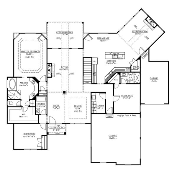 European Floor Plan - Main Floor Plan Plan #437-70
