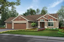 Architectural House Design - Craftsman Exterior - Front Elevation Plan #132-339