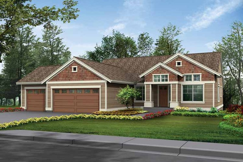 Craftsman Exterior - Front Elevation Plan #132-339