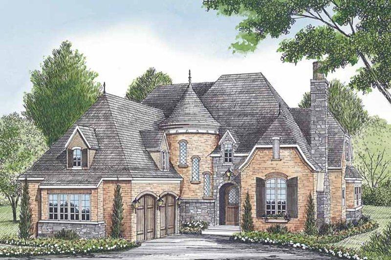 Dream House Plan - European Exterior - Front Elevation Plan #453-580
