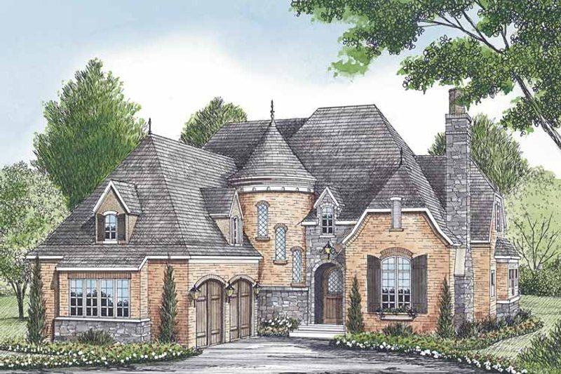European Exterior - Front Elevation Plan #453-580