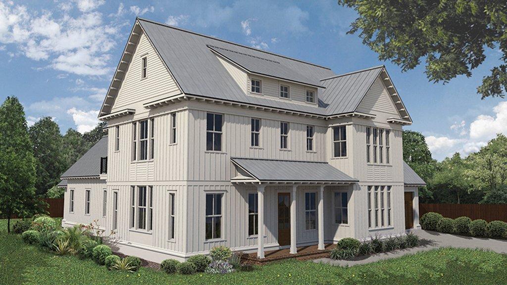 Farmhouse style house plan 4 beds 3 5 baths 3186 sq ft for 5 bedroom farmhouse floor plans