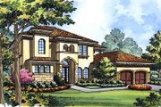 European Style House Plan - 5 Beds 3 Baths 3160 Sq/Ft Plan #417-363 Exterior - Front Elevation