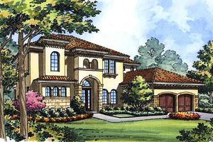 European Exterior - Front Elevation Plan #417-363