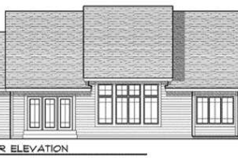 Ranch Exterior - Rear Elevation Plan #70-681 - Houseplans.com