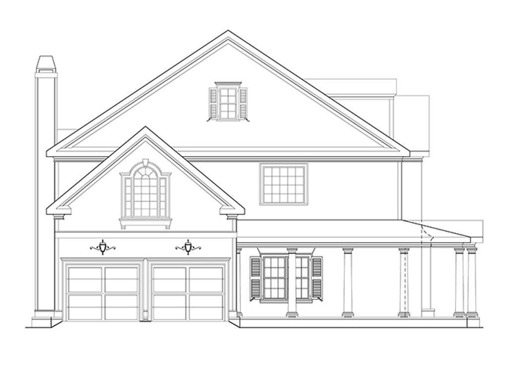 Classical Style House Plan  Ft