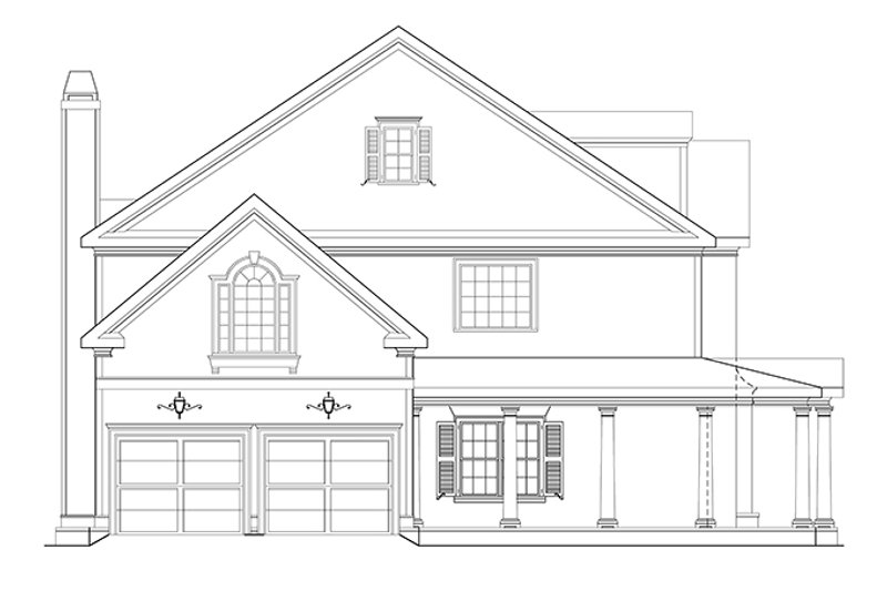 Classical Exterior - Other Elevation Plan #927-882 - Houseplans.com