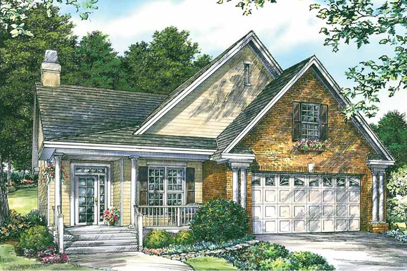 Country Exterior - Front Elevation Plan #929-728