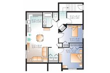 Country Floor Plan - Lower Floor Plan Plan #23-2559