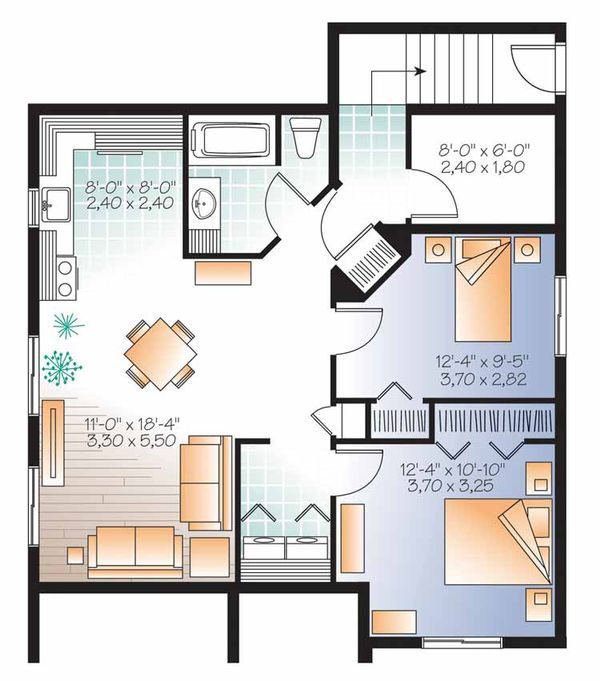Country Floor Plan - Lower Floor Plan #23-2559