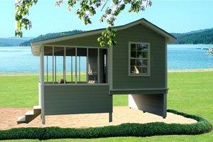 Cottage Exterior - Front Elevation Plan #21-325