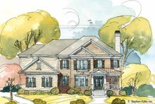 House Plan Design - Colonial Exterior - Front Elevation Plan #429-399