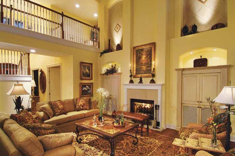 Country Interior - Family Room Plan #930-331 - Houseplans.com