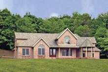 Dream House Plan - Victorian Exterior - Rear Elevation Plan #314-199