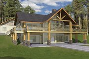 Ranch Style House Plan - 2 Beds 3 Baths 3871 Sq/Ft Plan #117-840 Exterior - Front Elevation