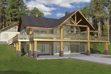 Ranch style house plan 2 beds 3 baths 3871 sq ft plan for Daylight basement house plans designs