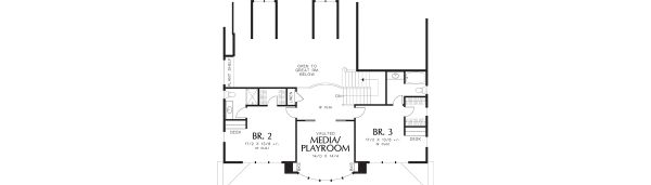 Country Floor Plan - Upper Floor Plan Plan #48-237