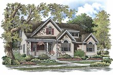 Architectural House Design - Country Exterior - Front Elevation Plan #929-765