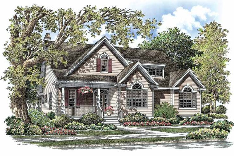 Country Exterior - Front Elevation Plan #929-765