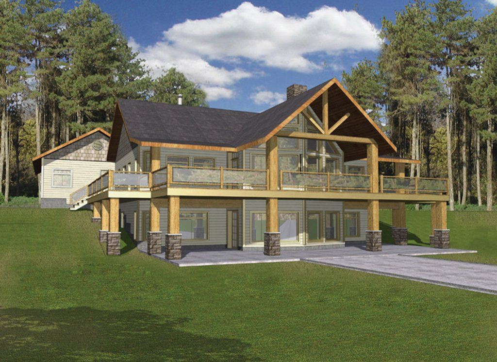Stamped Log Home Porch Designs Html on