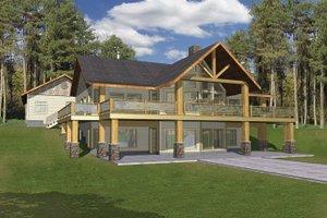 Architectural House Design - Ranch Exterior - Front Elevation Plan #117-840