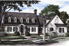 Dream House Plan - Front view - 3500 square foot Colonial Home