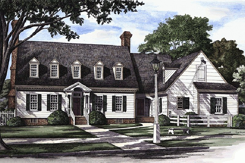Home Plan - Front view - 3500 square foot Colonial Home