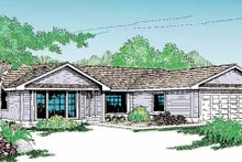 Architectural House Design - Craftsman Exterior - Front Elevation Plan #60-719