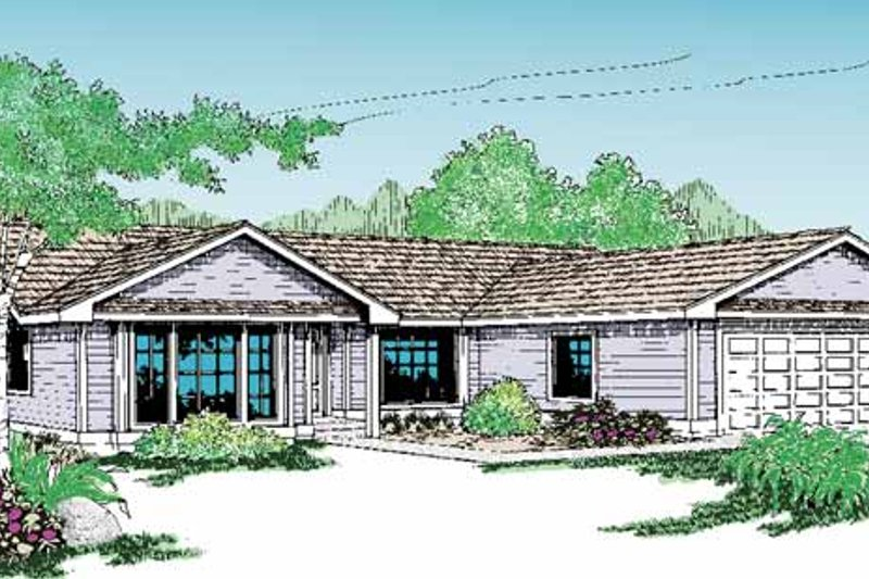 Craftsman Exterior - Front Elevation Plan #60-719