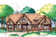 European Exterior - Front Elevation Plan #929-899