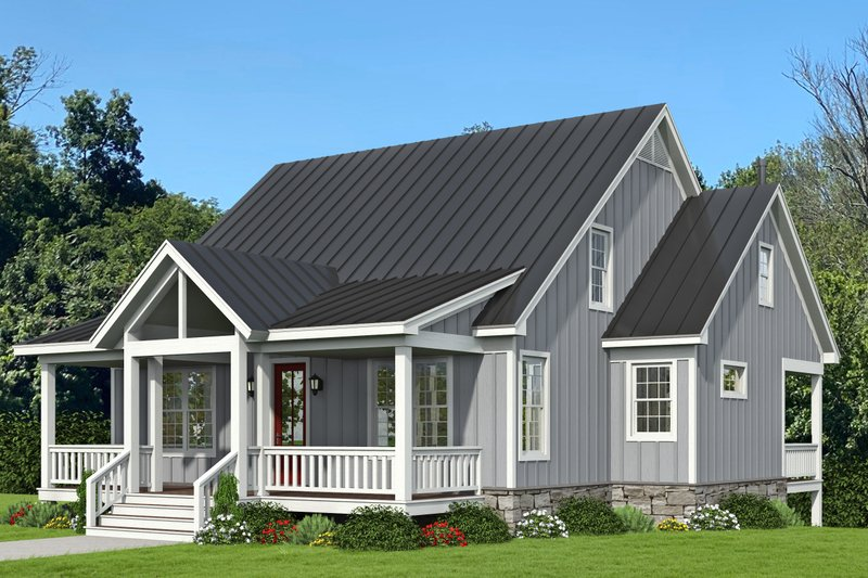 Dream House Plan - Traditional Exterior - Front Elevation Plan #932-333