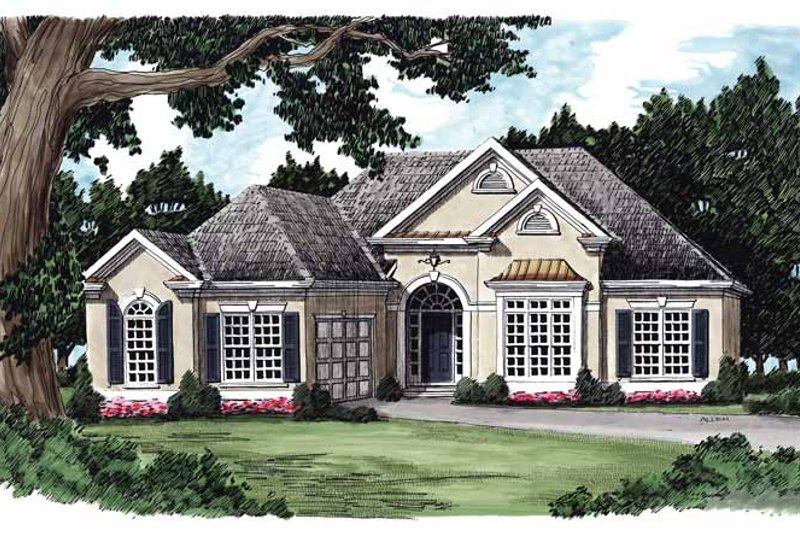 European Exterior - Front Elevation Plan #927-119
