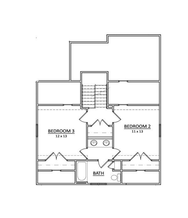 Craftsman Floor Plan - Upper Floor Plan Plan #936-10