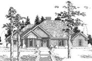 Traditional Style House Plan - 3 Beds 2.5 Baths 2157 Sq/Ft Plan #310-791 Exterior - Front Elevation