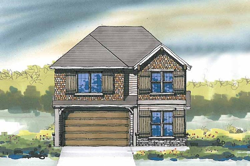 Craftsman Exterior - Front Elevation Plan #509-289 - Houseplans.com