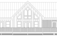 House Design - Country Exterior - Rear Elevation Plan #932-400