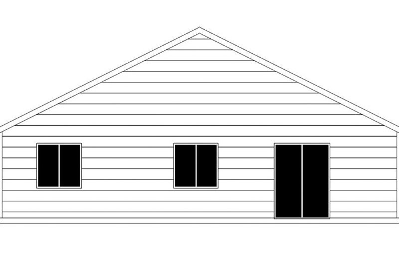 Craftsman Exterior - Rear Elevation Plan #943-47 - Houseplans.com