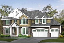 Dream House Plan - Craftsman Exterior - Front Elevation Plan #132-463