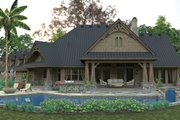 Craftsman Style House Plan - 3 Beds 2 Baths 2466 Sq/Ft Plan #120-246 Exterior - Rear Elevation