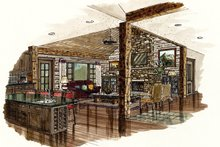 Ranch Interior - Family Room Plan #942-15