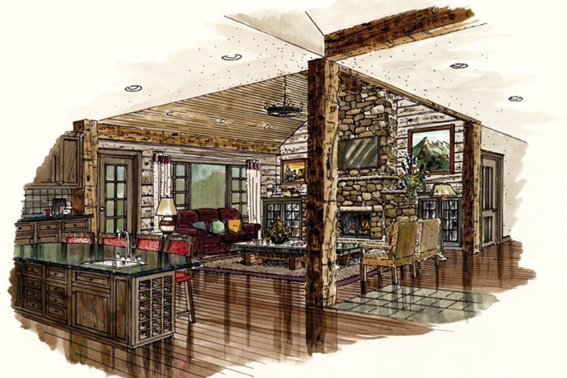 Ranch Interior - Family Room Plan #942-15 - Houseplans.com