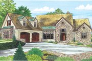 Craftsman Style House Plan - 4 Beds 4 Baths 3014 Sq/Ft Plan #929-937 Exterior - Front Elevation