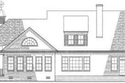 Country Style House Plan - 3 Beds 3 Baths 3639 Sq/Ft Plan #137-141 Exterior - Rear Elevation