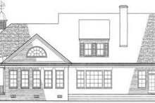 Country Exterior - Rear Elevation Plan #137-141