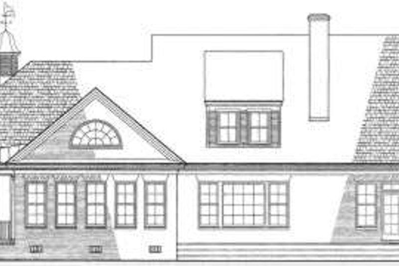 Country Exterior - Rear Elevation Plan #137-141 - Houseplans.com